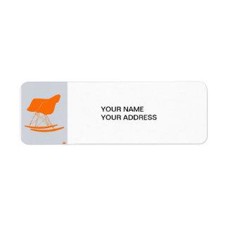 Eames Rocking chair Return Address Labels