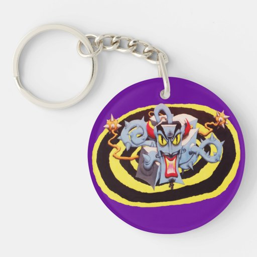 Ear Assaulting Wicked Mad Devil Sound System Acrylic Keychains