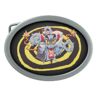 Ear Assaulting Wicked Mad Devil Sound System Oval Belt Buckle