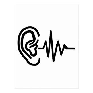 Ear frequency postcard