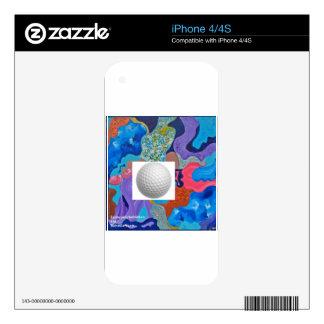 Ear Golf Ball iPhone 4S Decals