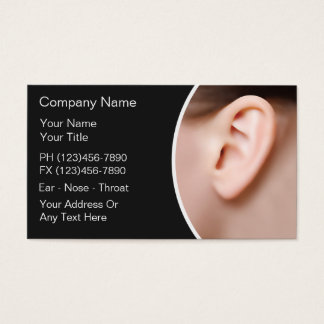 Ear Nose Throat Doctor Business Cards
