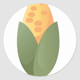 Ear Of Corn Classic Round Sticker