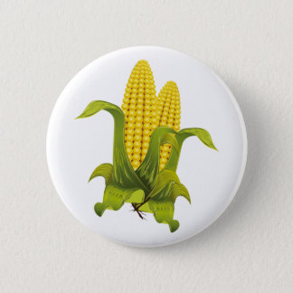 Ear of corn corn cobs pinback button