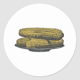 ear of corn corn on the cob classic round sticker