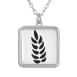 Ear of Wheat Silver Plated Necklace