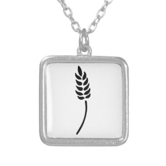 Ear of Wheat Square Pendant Necklace
