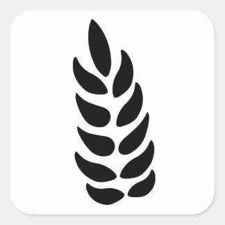Ear of Wheat Square Sticker