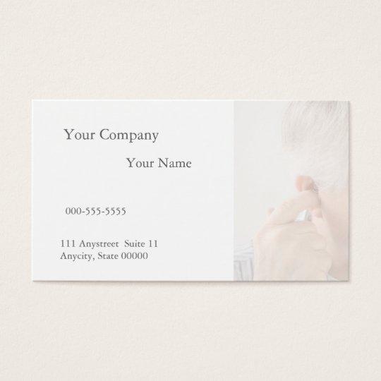 ear pain in an older man business card