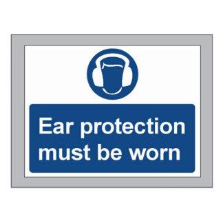 ear protection postcard