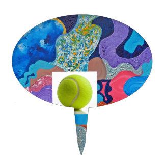 Ear Tennis Ball Cake Topper