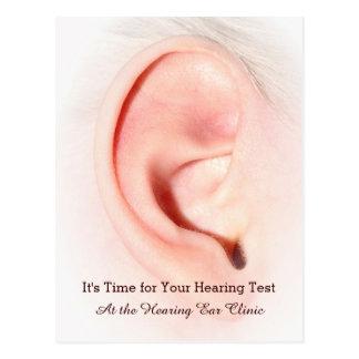Ear Testing Otolaryngology Appointment Reminder Postcard