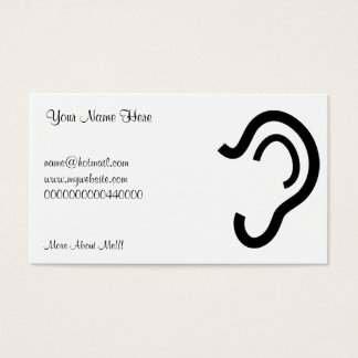 Ear, Your Name Here, Business Card