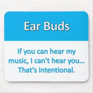 Earbuds Mousepad
