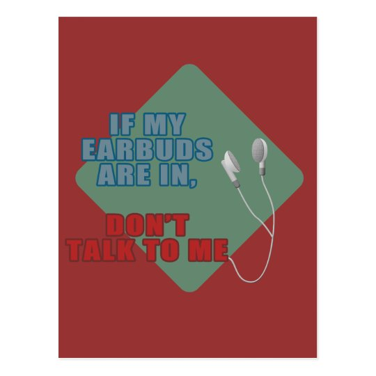 Earbuds Postcard