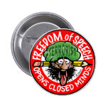 EARFUL of FREE SPEECH! 2 Inch Round Button