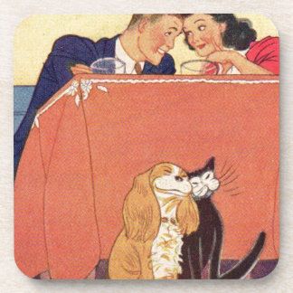 Earl and Dorothy and the dog and the cat Coasters