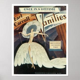 Earl Carroll Vanities Songbook Cover Poster