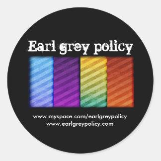 Earl Grey Policy Classic Round Sticker