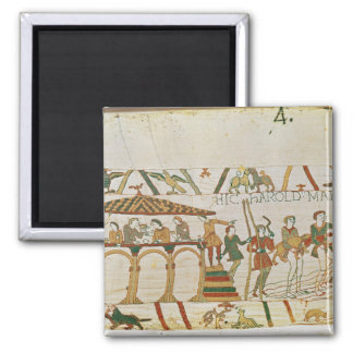 Earl Harold  dines and then sets sail 2 Inch Square Magnet