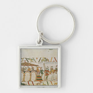 Earl Harold  dines and then sets sail Silver-Colored Square Keychain