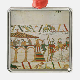 Earl Harold  dines and then sets sail Metal Ornament