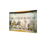 Earl Harold riding with his knights to Bosham Stretched Canvas Print