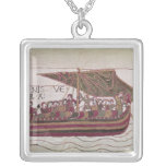 Earl Harold with his sails full of wind Silver Plated Necklace