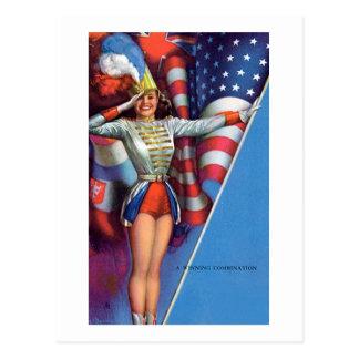 Earl Moran Vintage Americana Postcard