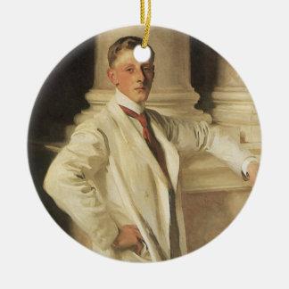 Earl of Dalhousie by Sargent, Vintage Portrait Art Ceramic Ornament