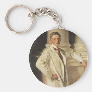 Earl of Dalhousie by Sargent, Vintage Portrait Art Keychain