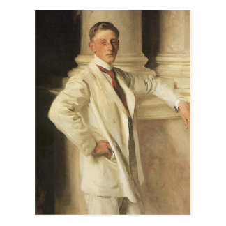 Earl of Dalhousie by Sargent, Vintage Portrait Art Postcard