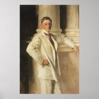 Earl of Dalhousie by Sargent, Vintage Portrait Art Poster