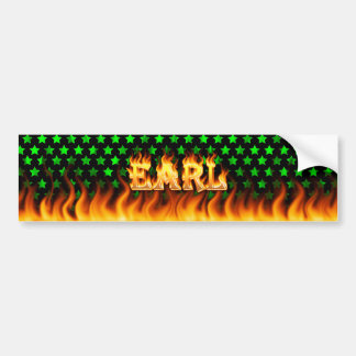 Earl real fire and flames bumper sticker design.