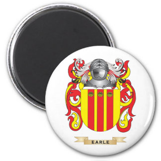 Earle Coat of Arms 2 Inch Round Magnet