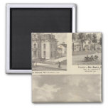 Earlham College, Richmond 2 Inch Square Magnet