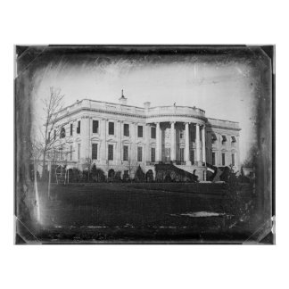 Earliest Known Photograph of the White House 1846 Print