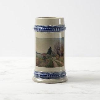 EARLIEST SPRING IN VERNALESE / Tuscany Landscape Beer Stein