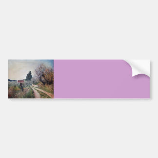 EARLIEST SPRING IN VERNALESE / Tuscany Landscape Bumper Sticker