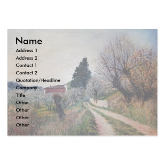 EARLIEST SPRING IN VERNALESE / Tuscany Landscape Business Card