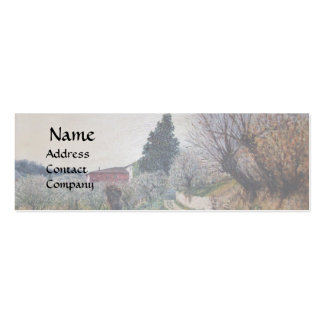 EARLIEST SPRING IN VERNALESE / Tuscany Landscape Business Card Template