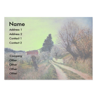 EARLIEST SPRING IN VERNALESE / Tuscany Landscape Business Cards