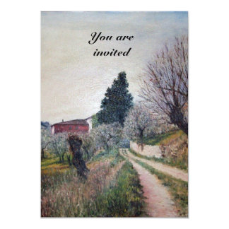 EARLIEST SPRING IN VERNALESE / Tuscany Landscape Card