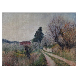 EARLIEST SPRING IN VERNALESE / Tuscany Landscape Cutting Boards