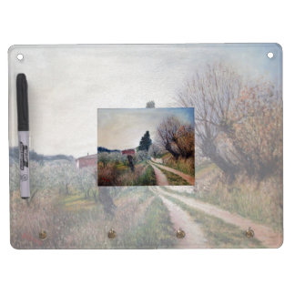 EARLIEST SPRING IN VERNALESE / Tuscany Landscape Dry Erase Whiteboard