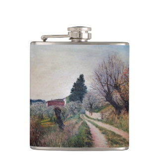 EARLIEST SPRING IN VERNALESE / Tuscany Landscape Flask