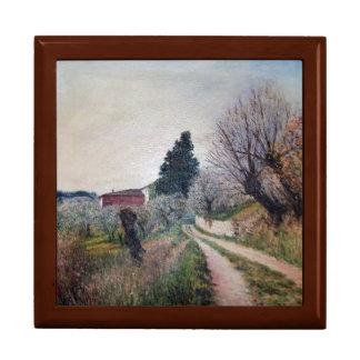 EARLIEST SPRING IN VERNALESE / Tuscany Landscape Keepsake Box