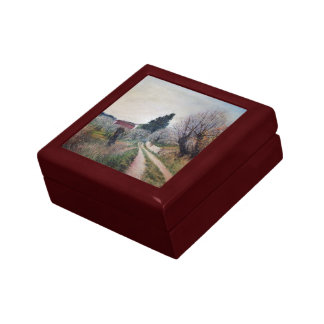 EARLIEST SPRING IN VERNALESE / Tuscany Landscape Jewelry Box