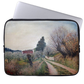 EARLIEST SPRING IN VERNALESE / Tuscany Landscape Computer Sleeve