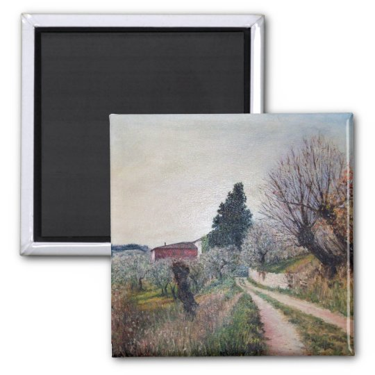 EARLIEST SPRING IN VERNALESE / Tuscany Landscape Magnet